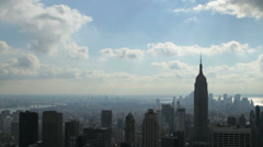 Downtown Manhattan and the Empire State Building in New York Stock Footage