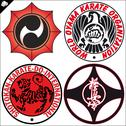 Stock Illustration of Combat karate martial arts. LOGO SET