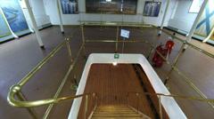 Staircase between decks on the cruiser Aurora Stock Footage