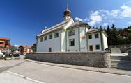 Stock Photo of alpine church in san cassiano