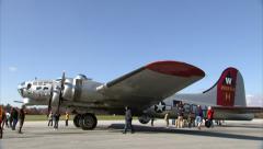 Boeing B-17 Pan Down Stock Footage