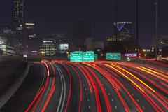 Atlanta interstate 85 night Stock Photos