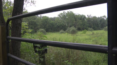 Nature preserve and gate PAN R Stock Footage