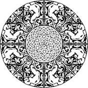 Renaissance seamless pattern. Vector illustration - stock illustration