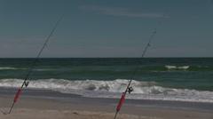 Fishing Poles Atlantic Ocean Stock Footage