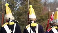 Stock Video Footage of Hessian Soldiers March (Revolutionary War)
