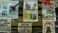 Stock Video Footage of Propaganda posters in the blockade Leningrad.
