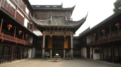The famous Yu Yuyuan Garden in old Shanghai, China - stock footage