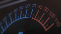 DB or VU meter measuring sound Stock Footage