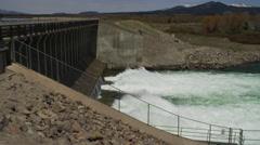 Dam in Grand Tetons, Camera Pans Stock Footage
