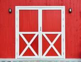 Stock Photo of door and wall wooden red background