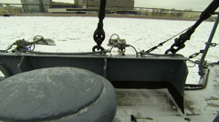 Ship's deck of the cruiser Aurora Stock Footage