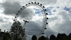 London Eye rotating at a slow speed, London, UK (LONDON EYE 13) Stock Footage