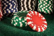 Stock Photo of Poker Chip, Winning