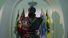 Mikhail Lomonosov. The bust. Stock Footage