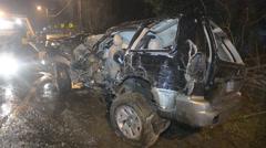High Speed Crash Aftermath - stock footage