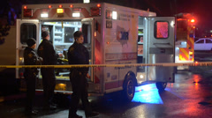 Emergency Scene With Police And Medical - stock footage