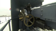 Stock Video Footage of Cannon, naval guns of the cruiser Aurora