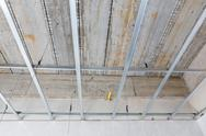 Stock Photo of ceiling setup for house building