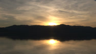 Stock Video Footage of Sunrise Lake Reflection