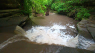 Stock Video Footage of Giants Bathtub Matthiessen State Park