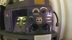 Military transmitter, portable radio Stock Footage