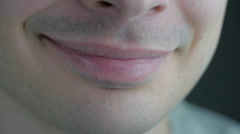 Closeup On A Smile Stock Footage