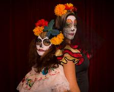 Day of the dead friends Stock Photos