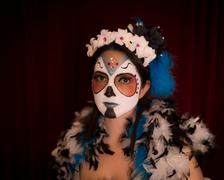 day of the dead female - stock photo
