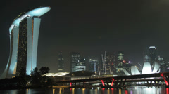 Time lapse of the Marina Bay Sands area of Singapore Stock Footage