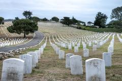 Fort rosecrans national cemetary Stock Photos