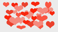 Stock Video Footage of Love Hearts - valentine's day background
