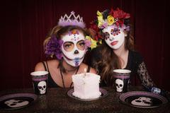 Day of the dead birthday party Stock Photos