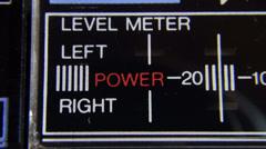 Led Indicator audio level Stock Footage