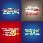 Stock Illustration of set of motivational quotes.