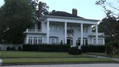 Southern Home Porch With Large Columns Stock Footage