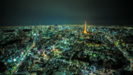 Stock Video Footage of Stunning HD Tokyo cityscape time lapse at night