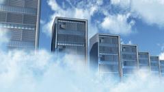 4K Cloud Servers 3 Stock Footage