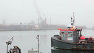 Stock Video Footage of boats in the fog 01