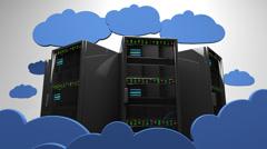 4K Cloud Servers 4 Stock Footage