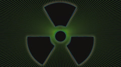 Nuclear Radiation Weapon Symbol Stock Footage