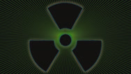 Stock Video Footage of Nuclear Radiation Weapon Symbol