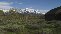 Old Log Church in Grand Tetons - stock footage