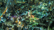 Stock Video Footage of Time lapse panning across the Tokyo cityscape