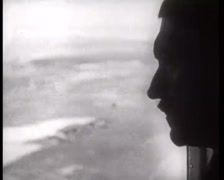 WW2 - 1939 - Battle Of Warsaw 09 - Hitler Watching Warsaw from Plane Stock Footage