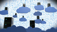 4K Cloud Servers 16 Stock Footage