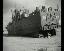 WW2 - 1944 - Operation Overlord D-Day - Ships After Combat 01 - stock footage