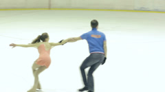 Figure Skating Back Inside Death Spiral Stock Footage