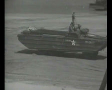 WW2 - 1944 - Operation Overlord D-Day - Beachhead Vehicles and Ships 04 Stock Footage