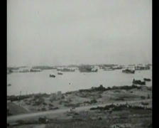 WW2 - 1944 - Operation Overlord D-Day - Beachhead Overview 05 Stock Footage